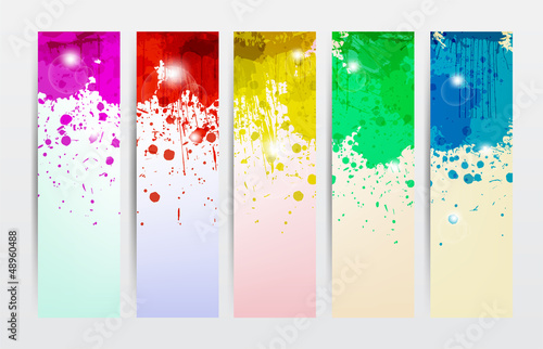 Poster Abstract wave Splat Banners
