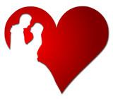 Herz Brautpaar