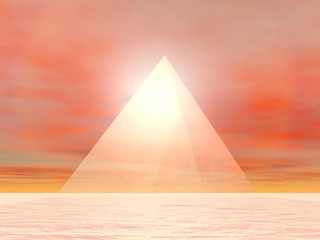 FototapetaPyramid to sun - 3D render