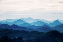 View On Mountains From Corcova...