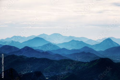 Photo Stands Mountains View on mountains from Corcovado, Rio de Janeiro, Brazil