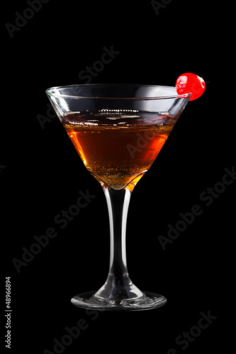 Apple manhattan coctail Canvas Print