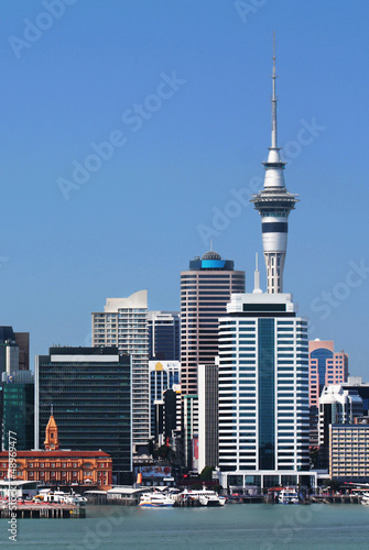 Fototapety, obrazy: Auckland City with Skytower
