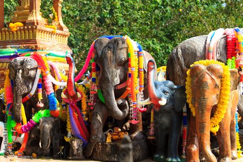 Fotografie, Obraz  Elephants at the Phuket lighthouse