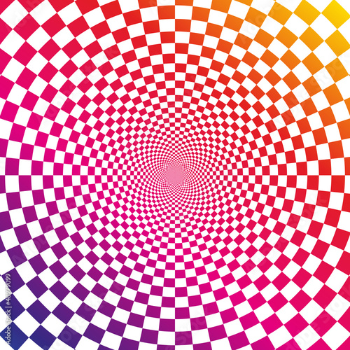 Spoed Foto op Canvas Psychedelic Illusion background