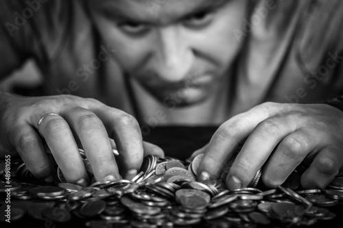 Cuadros en Lienzo greedy man