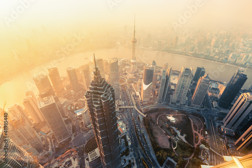 Canvas Print Shanghai skyline