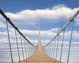 Fototapeta Most - Hängebrücke in den Himmel 2