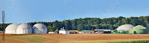 Bio fuel plant panorama. Wallpaper Mural