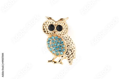 owl brooch Fototapeta