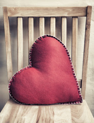 Obraz na płótnie Canvas Heart Pillow