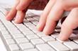 Hand and keyboard