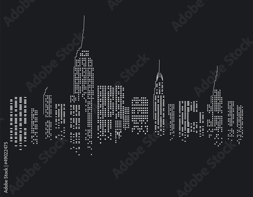 New York bei Nacht