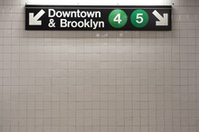 New York City Subway Sign In M...