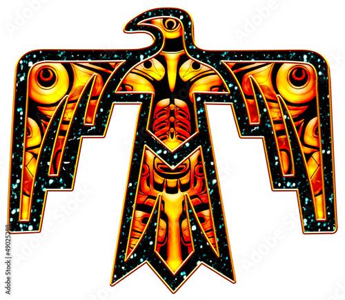 Obraz na plátně Donnervogel - Thunderbird - Native American Symbol