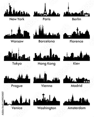 Photo  city silhouette vector 15