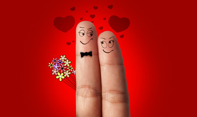 a couple of fingers in love...
