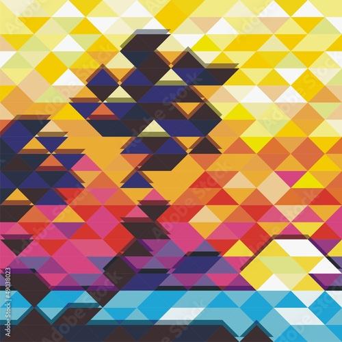 Deurstickers ZigZag colorful vector background