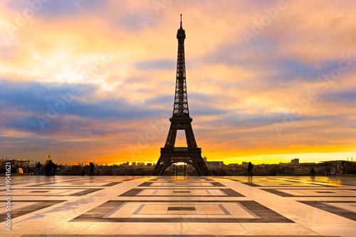 Obraz na płótnie Paryż oblany słońcem