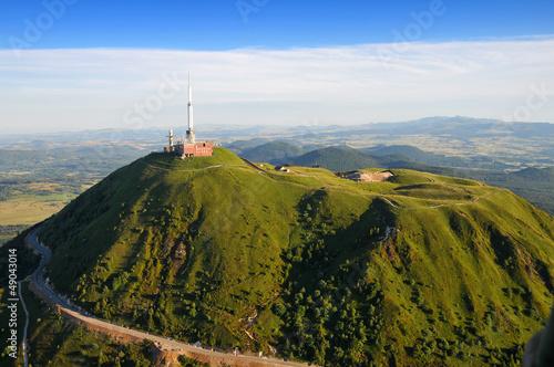 Papiers peints Vieux rose Vue aérienne Puy de dome et du Parc des volcans d'Auvergne