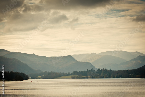 View of Mountains in UK Canvas Print