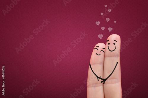 Fingers in love. Poster Mural XXL