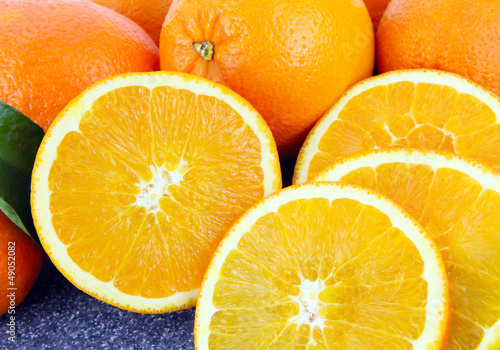 La pose en embrasure Tranches de fruits Frische Orangen