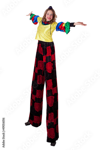 jester on stilts Tablou Canvas