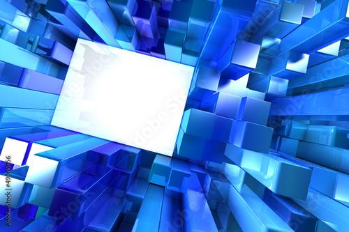 Shiny blue blocks