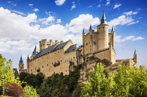 Photo The famous Alcazar of Segovia, Castilla y Leon, Spain