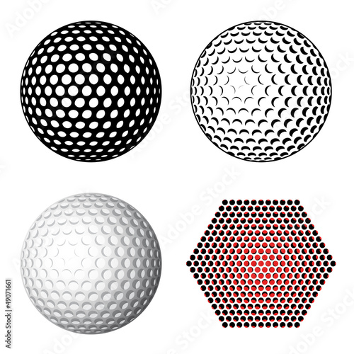 Fotografia, Obraz vector golf ball symbols