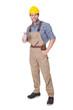 Portrait of happy construction worker