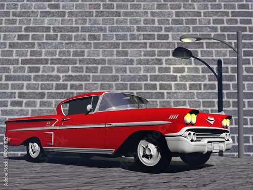 Wall Murals Old cars Chevy Belaire