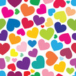 seamless pattern of color hearts