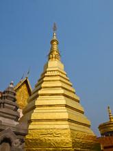 Phra That Chohae Golden Pagoda, Phrae, Thailand