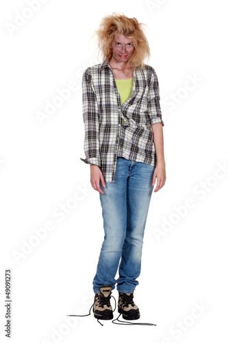 Fotografie, Obraz  strange woman with disheveled hair
