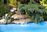 Wodospad w basenie