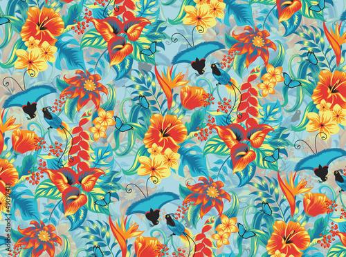 tropikalny-wzor-z-ptakami