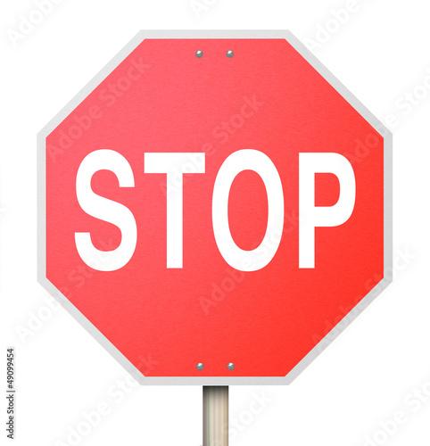 Fotografie, Obraz  Stop Sign - Isolated