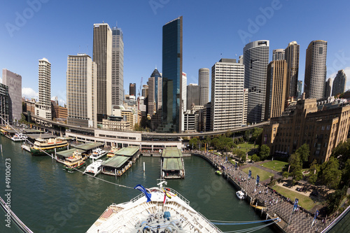 Foto op Canvas Restaurant City Of Sydney From A Cruise Ship