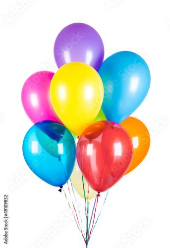 Papiers peints Montgolfière / Dirigeable Balloons on a white background