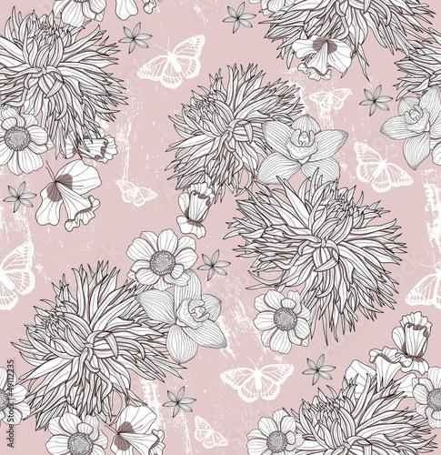 kwiatowy-wzor-tlo-z-kwiatami-i-motylami
