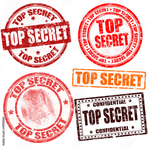 Photo  Top secret stamp collection