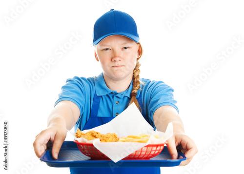 Photo  Fast Food Worker - Rude Attitude