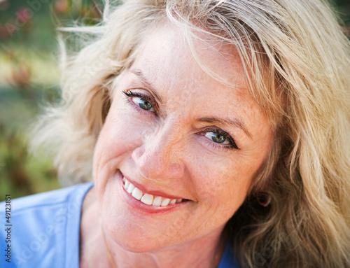 Fotografie, Obraz  Closeup Portrait - Mature Blond Beauty