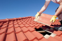 Construction Worker Tile Roofi...