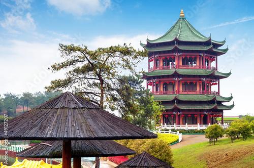 Keuken foto achterwand Peking Chinese ancient buildings of local