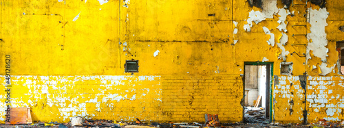 Printed kitchen splashbacks Old abandoned buildings factory