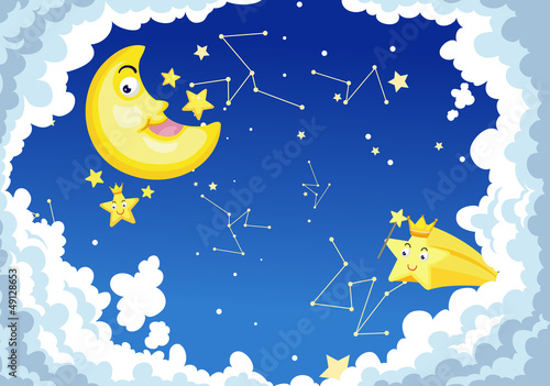 Recess Fitting Heaven moon night background vector