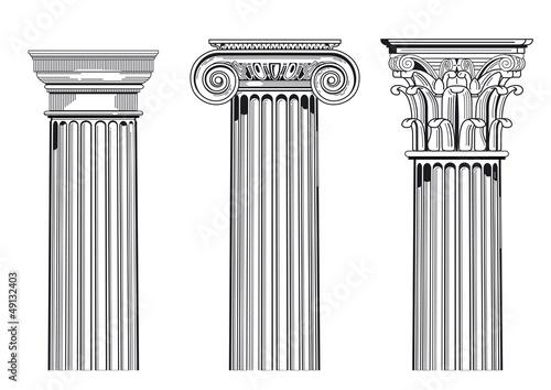 Säulen Kapitell Fototapeta